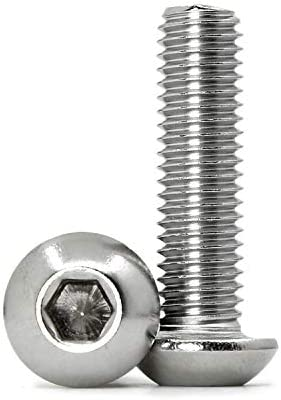 Button Head Socket Cap Screws Hex Socket Drive 18-8 3 pcs #10-32 X 2-1//4 AISI 304 Stainless Steel