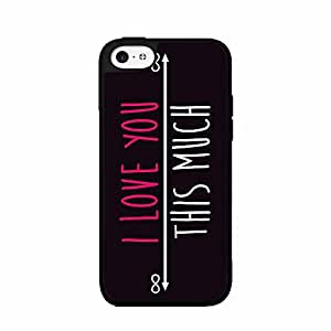 I Love You This Much 2-Piece Dual Layer Phone Case Back Cover iPhone 5 5s