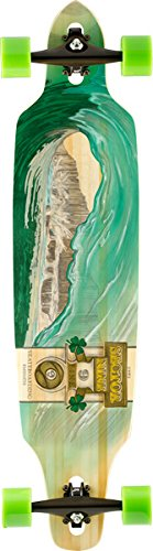 Sector 9 Drop-Thru Bamboo Lookout II Green Wave Complete Downhill Longboard Skateboard - 9.6