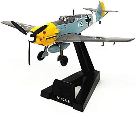 1/72スケール航空機モデル、軍ドイツ空軍BF-109戦闘機モデル、子供のおもちゃやギフト、5.4Inch X4.8Inch