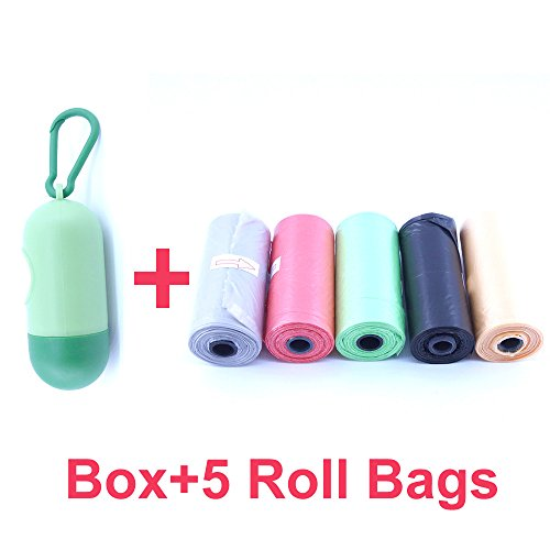 75 Disposable Diaper Refill Bags with Free Capsules Diaper Bag Dispenser,Unscented,Color May ()