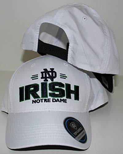 University of Notre Dame Fighting Irish ND White On Deck Top Adult Mens Adjustable Baseball Hat/Cap