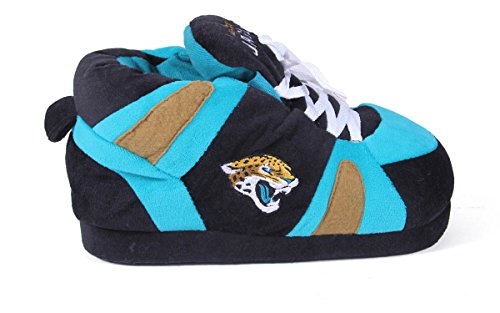 NFL Feet Jacksonville Womens Comfy Slippers Sneaker Mens OFFICIALLY LICENSED Happy Feet Jaguars and EwHqZw8a