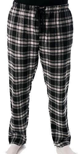 #followme Mens Flannel Pajama Pants 45905-7, Black - Plaid, Small