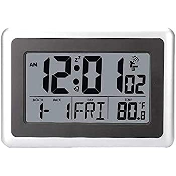 Amazon.com: Forestime Atomic Digital Wall Clock, Large LCD