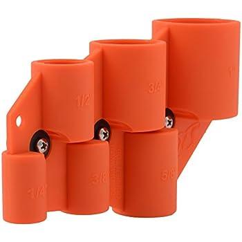 SharkBite Depth & Deburr Deburring Depth Gauge Tool, Copper, CPVC, Pipe, 1/2 inch, 5/8 inch, 3/4 inch, 1 inch, U702A, Orange