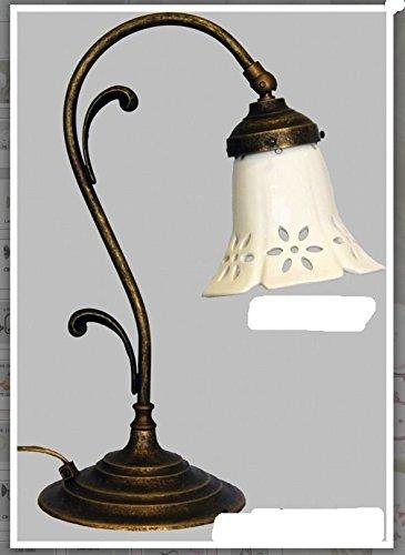 Lámpara de mesa con tulipas latón, acabado pulido, diseño de ...
