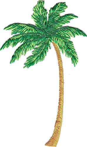 PALM TREE w/METALLIC ACCENTS - TROPICAL - BEACH - Iron On Palm Tree