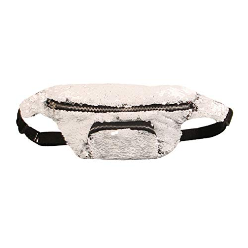 Van Caro Womens Sequin Waist Bag Fanny Pack Outdoor Chest Crossbody -