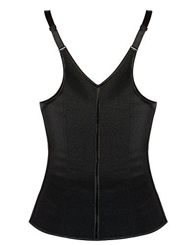 953155a466f Ekouaer Women s Latex waist training vest Plus Size Long Torso(Black ...