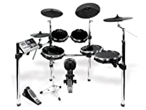 Alesis DM10 X Kit | Ten-Piece Professional Electronic Drum Set with Chrome XRack (Mylar Drum Pads)