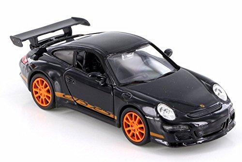 - Welly Porsche 911 (997) GT3 RS, Black w/ Orange 42397D - Diecast Model Toy Car but NO BOX