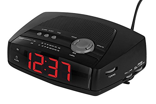 Living Solutions AM/FM Alarm Clock (Leeds Clock)