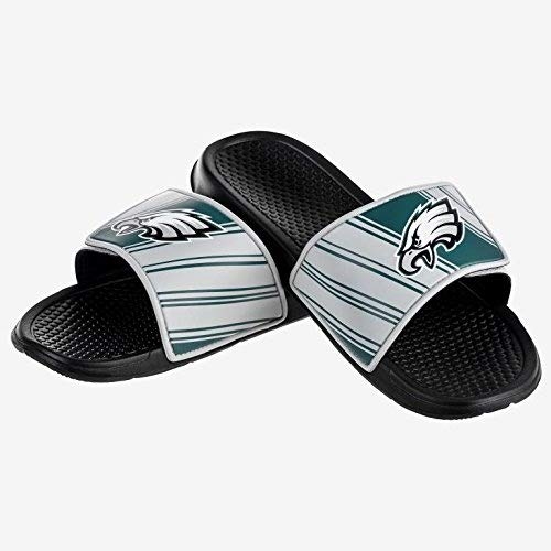 Foco Nfl Philadelphia Eagles Mens Ffssnflgcvcpel Legacy Velcro Sport Slide Slippers  Team Color  Large