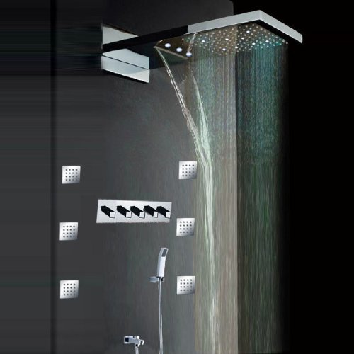 Fuloon Stainless Faucets Rainfall Ceramic