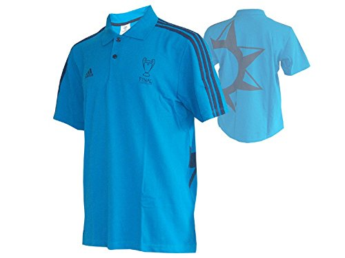 adidas UCL Merc Poloshirt UEFA Champions League Polo Jersey Finale 2014 Lissabon blau