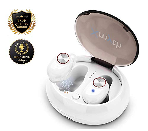 [Upgraded Version]True Wireless Earbuds Bluetooth 5.0, Waterproof Sports Earphones for Running, Noise Cancelling headset /w Built-in Mic, 20H Playtime, In-ear Headphones with Charging Case, HIFI Sound