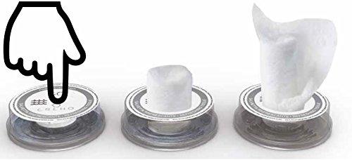 Napkin Go 07 Citronella Komprimiertes Reinigungstuch mit Fl/üssigkeit 50 St/ück