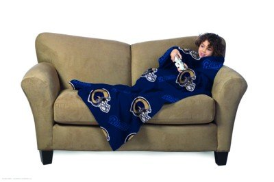 Fleece St Louis Rams Blanket - The Northwest Company NFL St. Louis Rams Youth Size Comfy Throw Blanket with Sleeves
