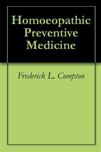 Homoeopathic Preventive Medicine