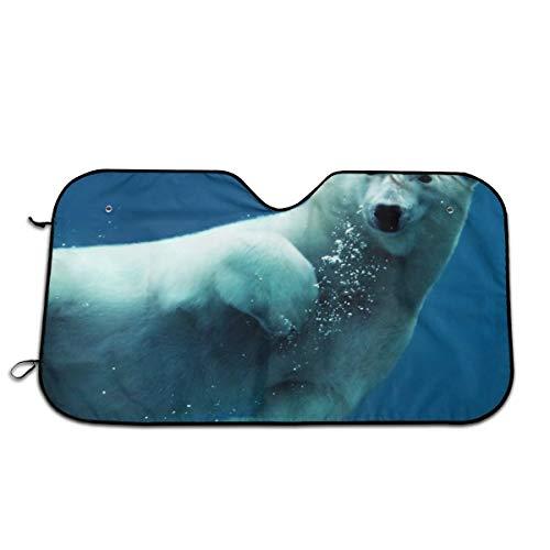 - Polar Bear Swimming Car Sun Shade for Windshield Universal Fit 2 Pack Sunshade Block Sun Glare UV and Heat Protect Car Interior