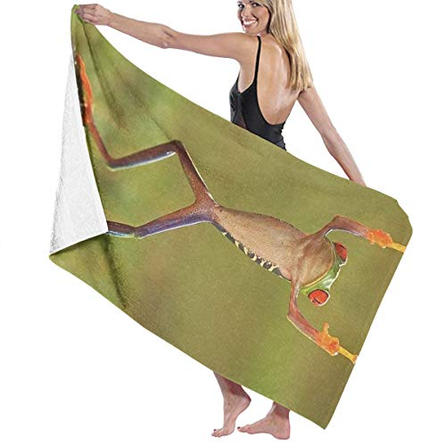SARA NELL Microfiber Beach Towel Hip Hop Frog with Middle Finger Bath Towel Beach Blanket Quick Dry Towel for Travel Swim Pool Yoga Camping Gym Sport -30