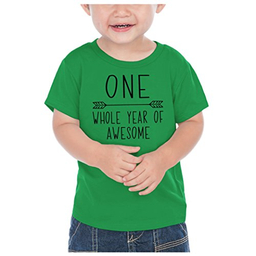 First Birthday Boy T-Shirt, One Year Old Birthday Boy Outfit (12 Months, Kelly Green)