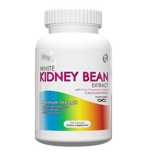 Haba de riñón blanca extracto - 1000mg por porción, 200 cápsulas, haba de riñón blanca para peso pérdida, bloqueador de carbohidratos, dieta verano Hack, (tamaño de valor)