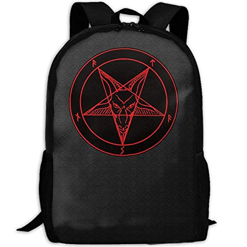 Satanic Symbol Star Interest Print Custom Unique Casual Backpack School Bag Travel Daypack Gift - ()