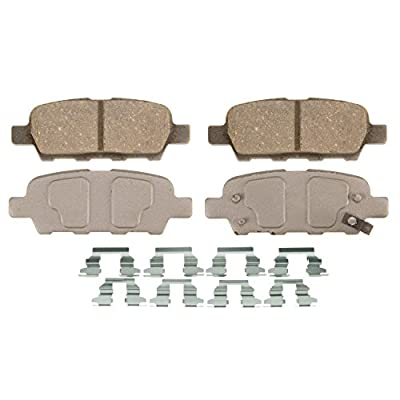 Wagner ThermoQuiet PD1288 Ceramic Disc Pad Set With Installation Hardware, Rear: Automotive