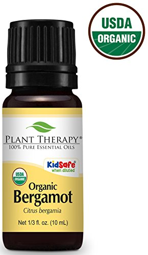 Plant Therapy Bergamot Organic Essential Oil 100% Pure, Undiluted, Therapeutic Grade (10 mL (1/3 oz))