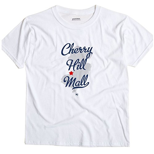 Cherry Hill Mall New Jersey NJ MAP GreatCitees Unisex Souvenir T - New Jersey Mall The