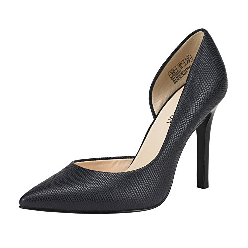 JENN ARDOR Stiletto High Heel Shoes for Women: Pointed, Closed Toe Classic Slip On Dress Pumps-Navy 8.5 B(M) US