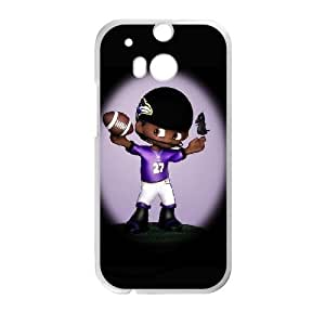 Baltimore Ravens HTC One M8 Cell Phone Case White persent zhm004_8452245