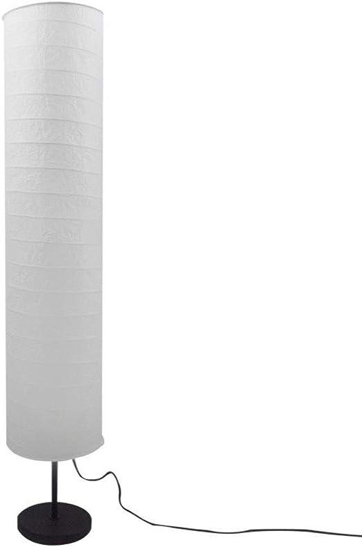 Lámpara de Pie Lámparas de Pie Lámpara de pie de Papel nórdico Europeo Lámpara de pie Minimalista Moderna Sala de Estar Dormitorio de Estudio Pantalla de Metal 46 Pulgadas Lámparas de pie: