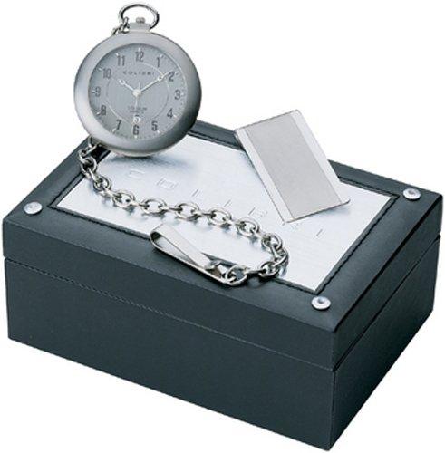 Colibri Pocket Watch & Money Clip SatinTitanium PWQ096807S