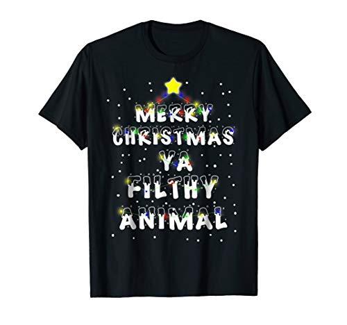 Merry Christmas Ya Filthy Animals Tshirt