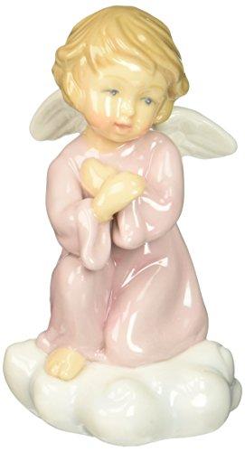 Cosmos 10423 Fine Porcelain Kneeling Angel Figurine, 4-1/4-Inch