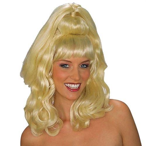 [Forum Novelties Women's Brigitte Model Costume Wig, Blonde, One Size] (I Dream Genie Costume)