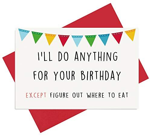 Birthday Card for Boyfriend, Card for Girlfriend. Funny Birthday Card for Husband, Card for Wife