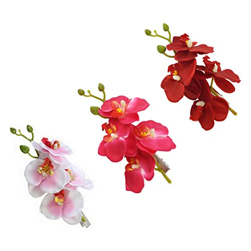 yueton Womens Orchid Flower Accessories