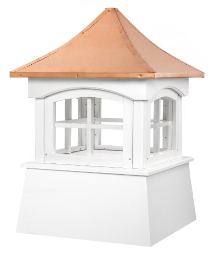 (Good Directions Windsor Vinyl Cupola with Copper Roof, 48