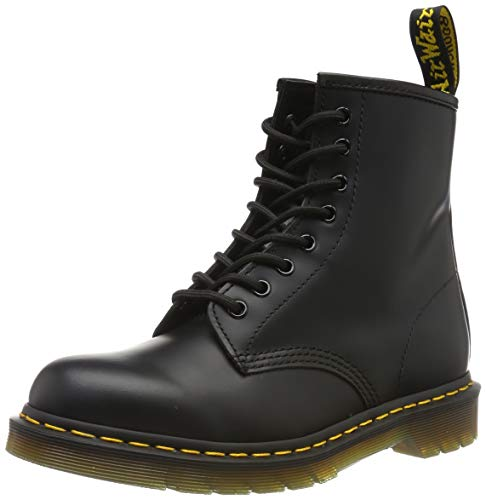 Dr. Martens 1460 Originals 8 Eye Lace Up Boot, Black Smooth Leather, 6UK / 7 US Mens / 8 US Womens, 39 EU