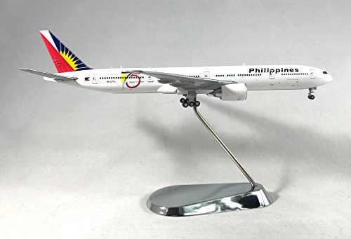 GeminiJets Philippine Airlines 75th Anniversary With Tow Tractor Boeing 777-300ER Diecast Airplane Model RP-C7773 With Chrome Stand 1:400 Scale Part# GJPAL1581