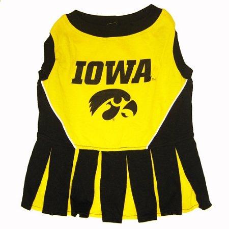 Iowa Hawkeye Dog Cheer Leading Dress & Leash Set Size SM