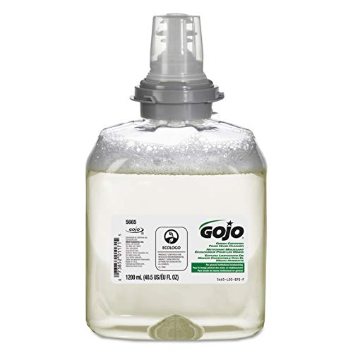 GOJO TFX Green Certified Foam Hand Cleaner, Fragrance-Free, EcoLogo Certified, 1200 mL Soap Refill for GOJO TFX Touch-Free Dispenser (Pack of 2) - 5665-02