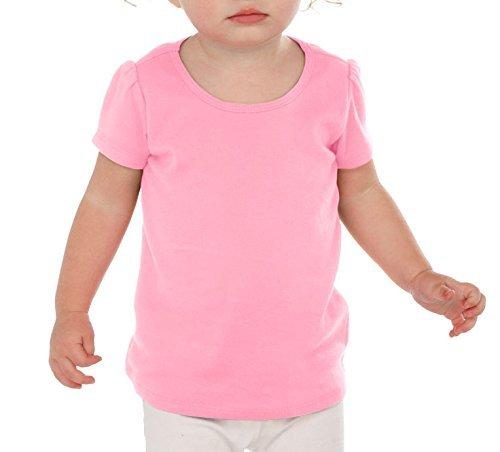 Kavio! Infants Scoop Neck Puff Sleeve Bubblegum Pink (Puff Sleeve Bubble)