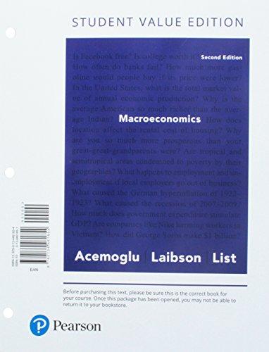 Macroeconomics, Student Value Edition (2nd Edition)
