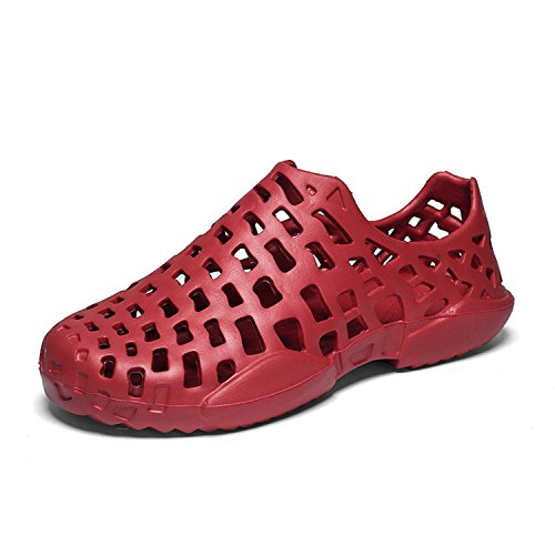 Summer Beach Dry Sandals Drainage Outdoor Garden Fast Shoes Red1 Slip Mens Lightweight WAWEN Womens Non Breathable wxfpY7qqO8