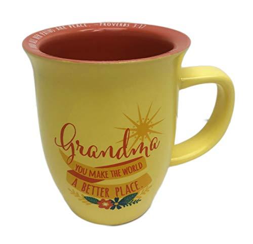 - Grandma You Make The World a Better Place Novelty Religious 16 oz Coffee Tea Drink Gift Mug